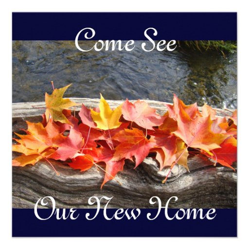 Come See Our New Home invitation Open House