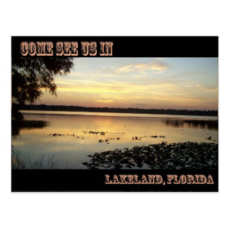 Come See Us in Lakeland Florida Postcards