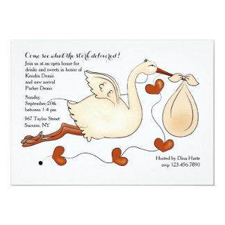 Come See What the Stork Delivered 5x7 Paper Invitation Card