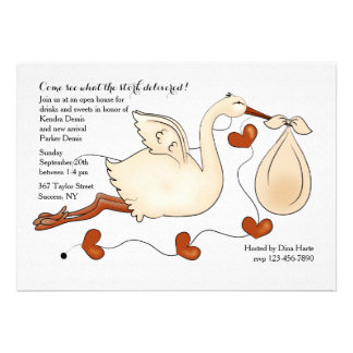 Come See What the Stork Delivered Custom Invitation