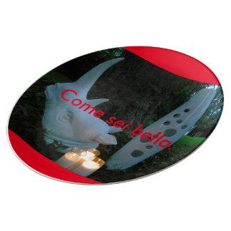 Come Sei Bella_Night Picnic_Porcelain Plate Porcelain Plates