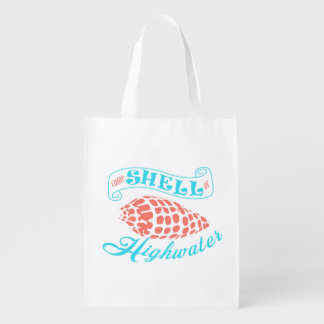 Come Shell or Highwater - White Bag