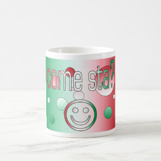 Come Sta? Italy Flag Colors Pop Art Coffee Mugs