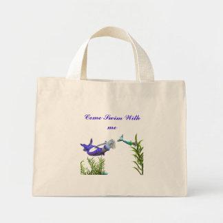 Come Swim With Me tote Mini Tote Bag