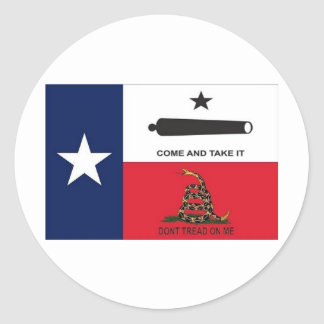 come take it classic round sticker