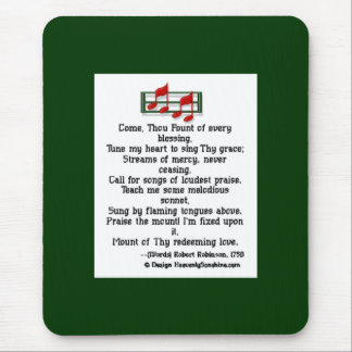 Come Thou Fount Hymn Mouse Pad