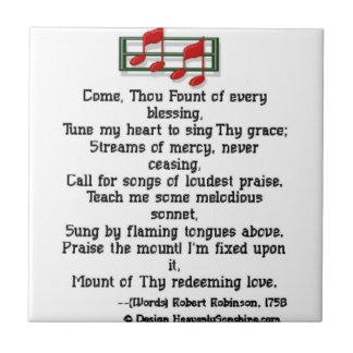 Come Thou Fount Of Every Blessing Small Square Tile