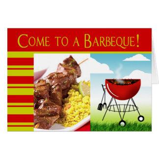 Come to a Barbeque! invitation