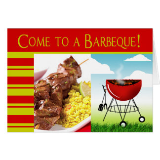 Come to a Barbeque! invitation Greeting Card