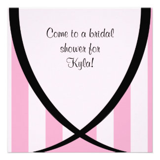 Come to a Bridal Shower Pink Stripe Invitation