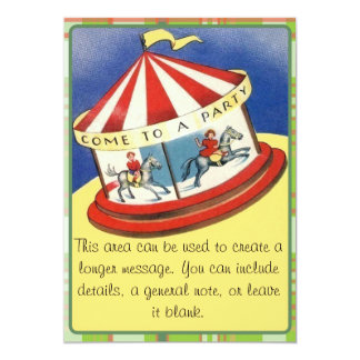"""Come To A Party 5"""" X 7"""" Invitation Card"""
