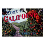 Come to California Vintage Graphic Print