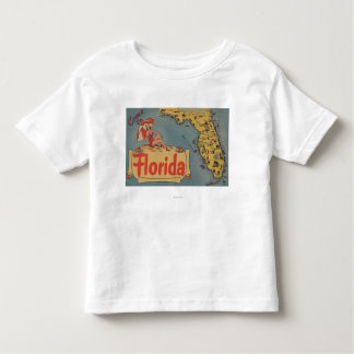 Come to Florida Map of the State, Pin-Up Girl Toddler T-shirt