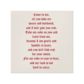 Come to Jesus and find rest Canvas Print