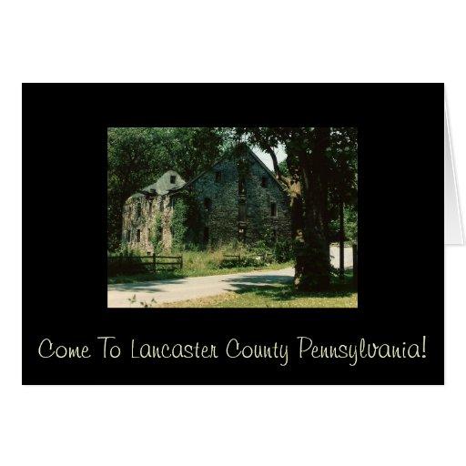 Come to Lancaster County Pennsylvania Card