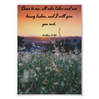 Come to me - Bible Poster