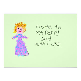 Come To My Party - Child's Drawing Personalized Invitation