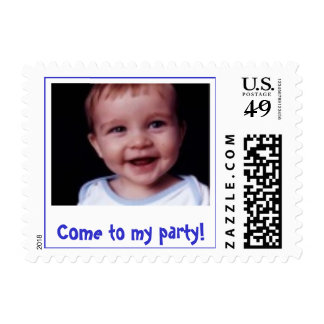 Come to my party! postage stamps