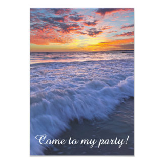 Come to my party! - Surfing beach waves at sunset Card