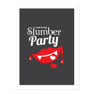 Come to my slumber party smile postcard