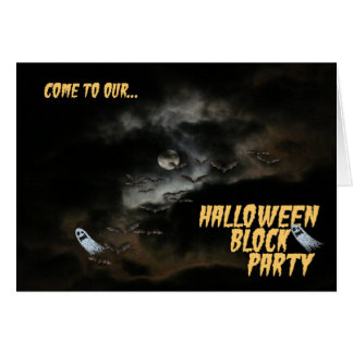 Come to our Halloween Block Party! Card