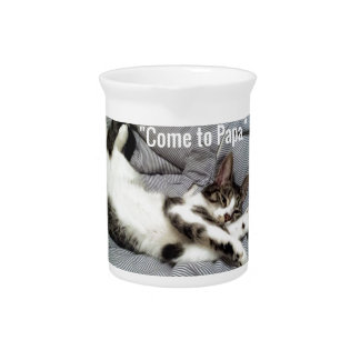 """Come To Papa"" Cat Drink Pitcher"