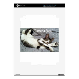"""""""Come To Papa"""" Cat iPad 2 Skin"""