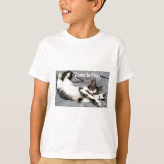 """""""Come To Papa"""" Cat T-Shirt"""