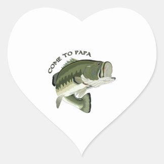 Come To Papa Heart Sticker