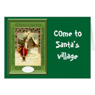Come to Santa's village Card
