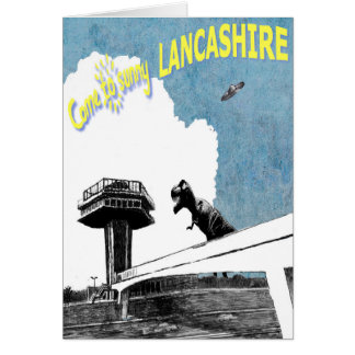 Come to Sunny Lancashire Card