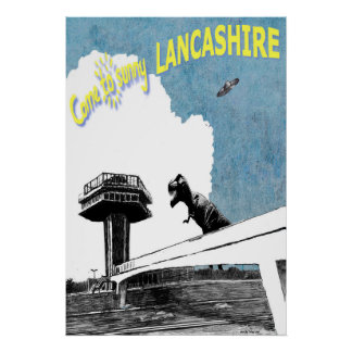 Come to sunny Lancashire Poster