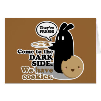 Come To The Dark Side.Card - Black Greeting Card