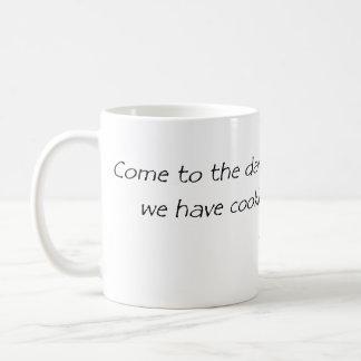 come to the dark side classic white coffee mug