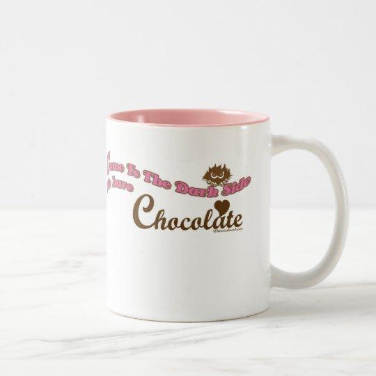 Come To The Dark Side, We have Chocolate Two-Tone Coffee Mug