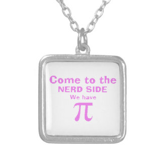 Come to the dork side we have Pi! Square Pendant Necklace