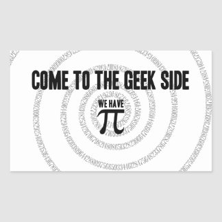 Come To The Geek Side for Pi Decor Rectangular Sticker