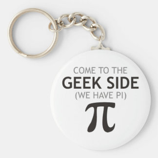 Come to the Geek Side - We Have Pi Keychain