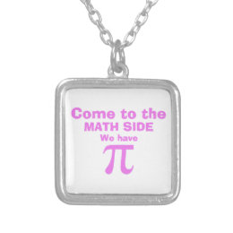 Come to the math side we have Pi! Silver Plated Necklace