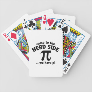 Come To The Nerd Side ... We Have Pi Bicycle Playing Cards
