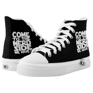 Come To The Nerd Side We Have Pi Math Humor Printed Shoes