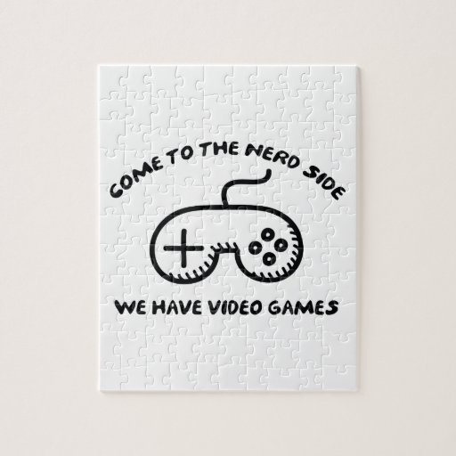 Come To The Nerd Side, We Have Video Games Jigsaw Puzzles