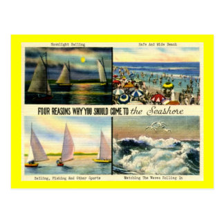 Come to the Seashore Vintage Post Card
