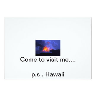 Come to visit me card