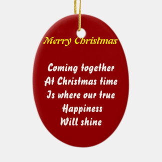 come together at christmas ceramic ornament