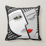 Come Together - Black, White and Red Pillows