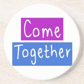Come Together Sandstone Coaster