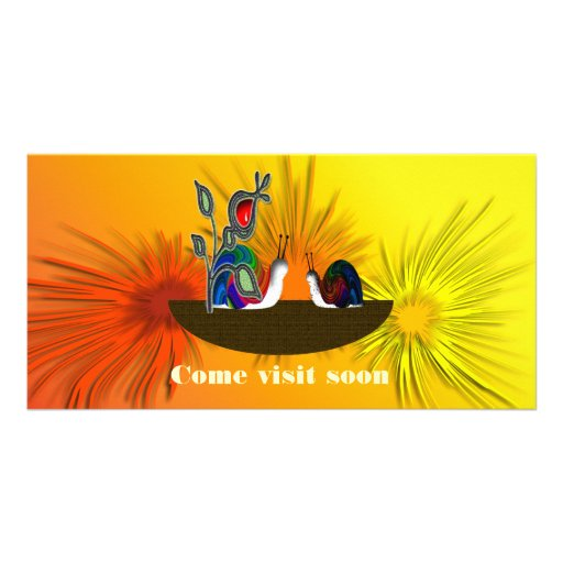 Come visit soon photo card template