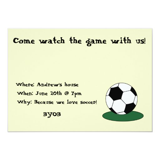 Come watch the game with us! invite