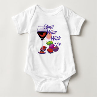 Come Wine With Me Baby Bodysuit